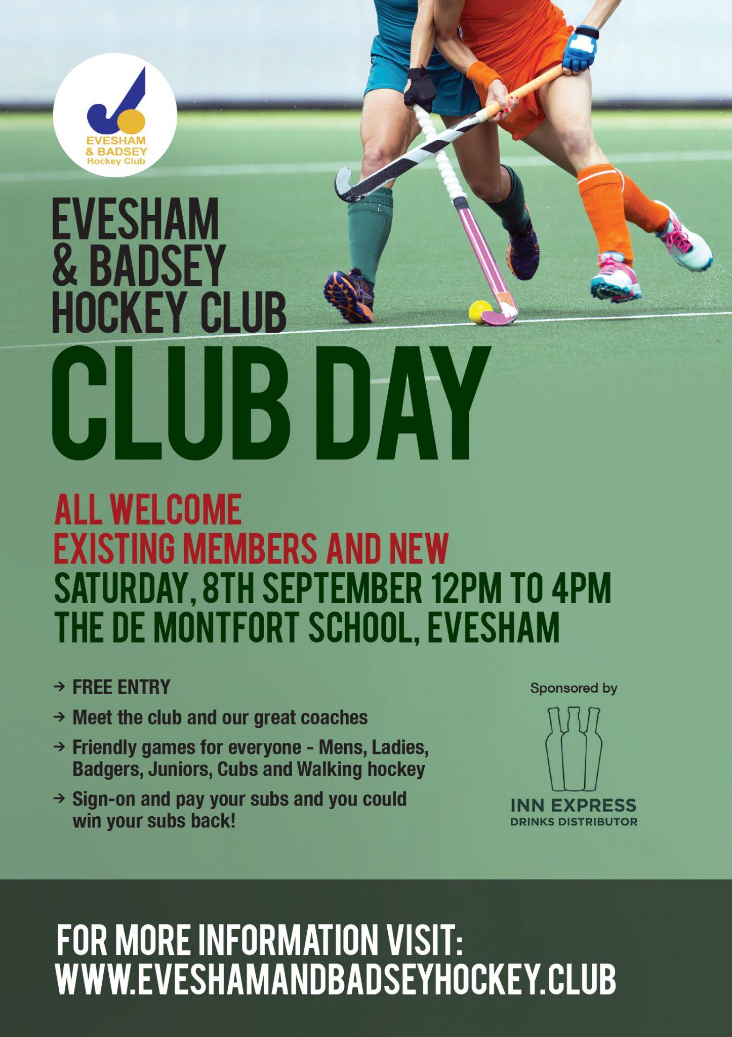 Evesham & Badsey Hockey Club Club Day 2018