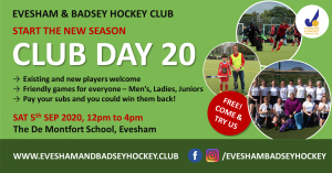 Evesham & Badsey Hockey Club Day 2020